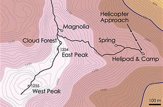 Grand Bois Topographic Map 3