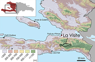 La Visite Topographic Map 1