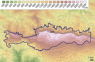 La Visite Topographic Map 2