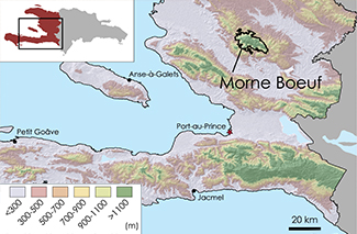 Morne Boeuf Topographic Map 1