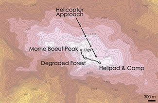 Morne Boeuf Topographic Map 3
